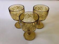 vintage drinking glasses -  Set Of 3
