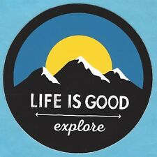 "NEW LIFE IS GOOD 4"" STICKER DECAL...MOUNTAINS OUTSIDE EXPLORE!!"