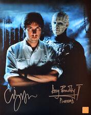 Clive Barker & Doug Bradley Pinhead Autographed Hellraiser 11x14 Photo ASI Proof