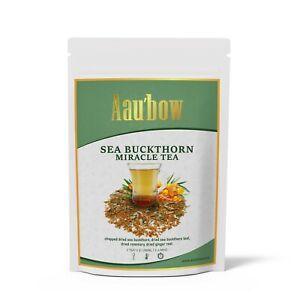 Sea Buckthorn Herbal Tea Fruit Leaf Rosemary Immune Support Detox Miracle Tea