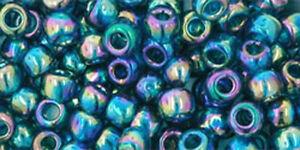 200 TRANS RAINBOW TEAL TOHO GLASS SEED BEADS 6/0