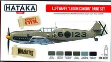 Hataka Hobby Paints LUFTWAFFE LEGION CONDOR Acrylic Paint Set