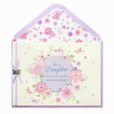 PAPYRUS GRADUATION CARD DAUGHTER BUTTERFLY FLORAL