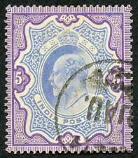 India KEVII SG142 5R Ultramarine and violet very fine used