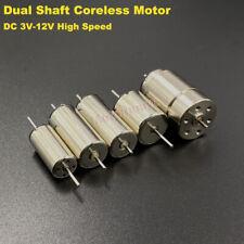 Mini Coreless Motor Dual Shaft Dc 6v 12v High Speed Ho Slot Car Rail Train Robot