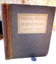 HISTORIC STYLES In FURNITURE,1910,Virginia Robie,Illust