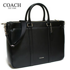NWT COACH MEN'S PERRY METROPOLITAN TOTE IN CROSSGRAIN LEATHER, F54775, BLACK