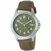 Peugeot Mens 24 Hour Army Military Canvas Strap Watch Ideal For Expedition 2041