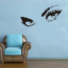 Wall Decals Beauty Hair Salon Beautiful Stickers Decor Eye Lashes Wink Makeup 6A