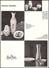 PUBBLICITA' CERAMICA PORCELLANA ROSENTHAL STRENNE NATALIZIE VASI PEYNET 1956