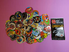 Pogs 120 Miscellaneous Variety + Gargoyles Pack * 4 Pogs 1 Slammer in Each Pack