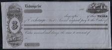 US 1870's BOSTON, MASS EXCHANGE CHECK UNUSED W/ SHIP & TRAIN VIGNETTES BY HOOPER