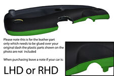 black & green FITS SMART FORTWO PASSION CITY PULSE 98-07 DASH LEATHER COVER