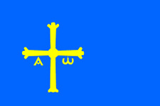 5ftx 3ft SPAIN ASTURIA - FLAG BANNER DECORATION WITH FREE UK POSTAGE
