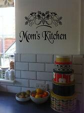 Personalized Kitchen Sign Wall Sticker Wall Art Vinyl Decals Kitchen Decor