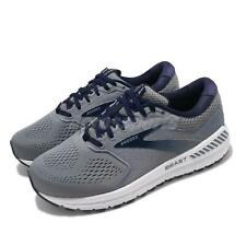 Brooks Beast 20 Extra Wide Grey Navy White Men Running Shoes Sneakers 110327 4E