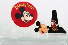 DISNEY COSRICH TAIWAN MICKEY/ MINNIE MOUSE BROOCHES/ PINS & MICKEY PATCH 6680B