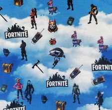 "Fortnite Polyester Fabric 1/4 Yard 9"" X 60"" Video Games New"