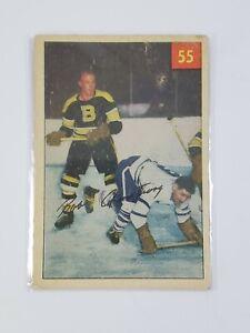1954-55 Parkhurst #55 Bob Armstrong Bruins Vintage Hockey Card