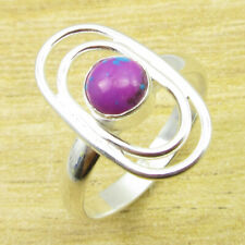 925 Silver Overlay Ring Size US 10.25 Dazzling Purple Copper Turquiose ARTWORK