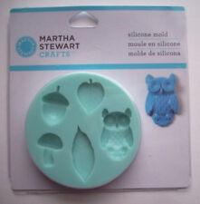 Fall Owl leaves mushroom acorn Martha Stewart silicone mold for embellishments c