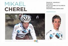 CYCLISME carte cycliste MIKAEL CHEREL équipe AG2R prévoyance 2011