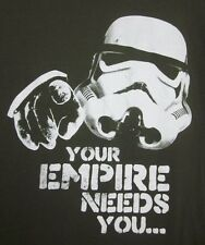 STAR WARS small tee Stormtrooper recruit throwback T shirt Your Empire Needs You