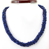 294.25 CTS NATURAL UNTREATED SINGLE STRAND BLUE TANZANITE FACETED BEADS NECKLACE