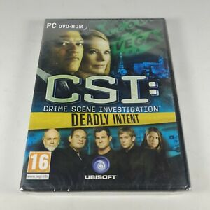 CSI Crime Scene Investigation Deadly Intent PC Video Game PAL *New Sealed*