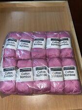 Schachenmaur Nomotta Cotton Bamboo Yarn Pink Lot Of 10 50/50 Cotton Viscose 0035