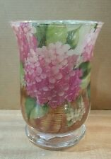 "5.75"" Vase with Decoupage Flowers  (Lilacs) in a Basket"