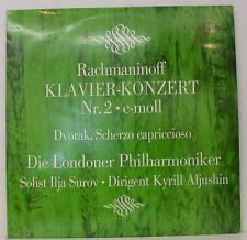 """RACHMANINOFF KLAVIER-KONZERT Nº 2 DVORAK ILJA SUROV MELISSA ALJUSHIN 12"""" LP (e4)"""