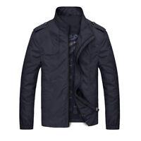Winter Fall Mens Jackets Fashion Casual Jacket Coats Collar Slim Short Thin Coat