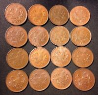 Vintage Norway Coin Lot - 2 Ore - MOOR HEN SERIES - 16 Coins - FREE SHIPPING