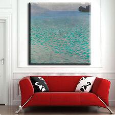 "TIME4ART GUSTAV KLIMT Attersee Turquoise CANVAS GICLEE 32""x32"" 80x80cm Decor ART"