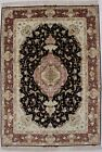 Classic Pictorial Extra Fine Wool & Silk 5X7'5 Area Rug Oriental Home Carpet