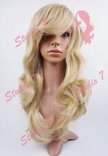 W4 Ash Blonde Ladies Full Wig Long Wavy Natural Look - studio7-uk