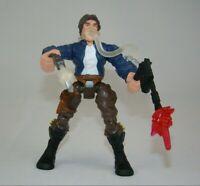 "Star Wars Hero Mashers Han Solo 5.5"" action figure w/ blaster, 2015 Hasbro"
