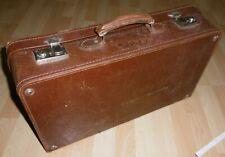 leder reise auto hand koffer adler marke SIPRA alt top vintage deko oldtimer