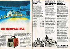PUBLICITE ADVERTISING 104  1980  HONDA  groupe éléctrogène  EX 500 ( 2 pages)
