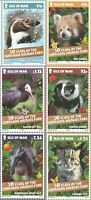 IOM  2015 CURRAGHS WILDLIFE PARK SET OF ALL 6 PHQ CARDS No. 31 MINT / UNUSED