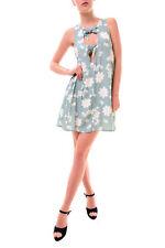 For Love & Lemons fiore femminile stampato Mini Abito Light Blue RRP £ 207 BCF77