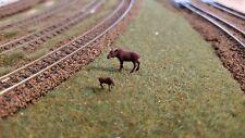N Scale Cow & Calf Moose 1:160 scale Model Train Railroad painted