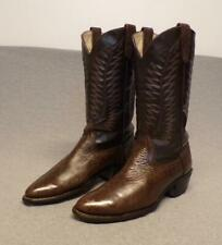 """New listing Texas Western Cowboy Leather Riding Casual Work boots men's size 8.5D """"USA"""""""