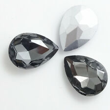 Wholesale hot Crystal Glass rhinestones teardrop Faceted beads 10/14/18/25/30mm