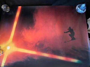 Vtg Jumping the Sun Winter Ski Poster Denver Colorado Skier 1972 Jeff Spaniel