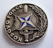 Médaille de table KOSOVO FORCE Yves de Kermabon, diam: 41 mm, poids: 26 grs.