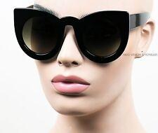 Oversized Extra Large Cat Eye Sunglasses Pinup Vintage Style Smoke Black K583
