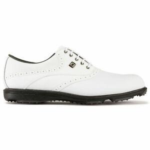 FOOTJOY MEN'S HYDROLITE 2.0 GOLF SHOES 50052 White/White Tumbled Waterproof