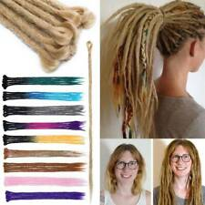 "24"" Dreadlocks Hair Extensions Single Ended Twist Crochet Braids Dreads 5 Packs"